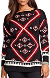 Lauren Ralph Lauren Plus Southwestern Cotton Sweater 3x Multi Color