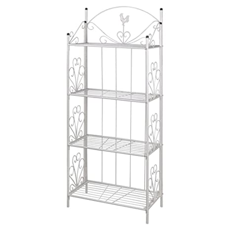Amazon.com: FESTNIGHT 4 Tier Plant Stand Flower Display Rack ...