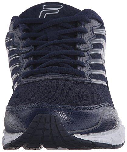Fila Cuenta atrás las zapatillas de running Azul marino, blanco, plateado (Fila Navy/White/Metallic Silver)