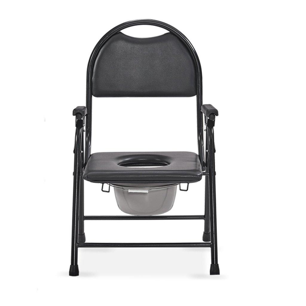 GRJH® トイレ椅子、折りたたみ式ステンレススチールバスルーム老人妊娠中の女性トイレチェア 防水,環境の快適さ   B079GN7PZD