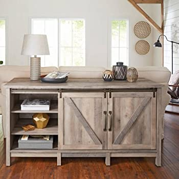 Amazoncom Better Homes And Gardens Modern Farmhouse Tv Stand