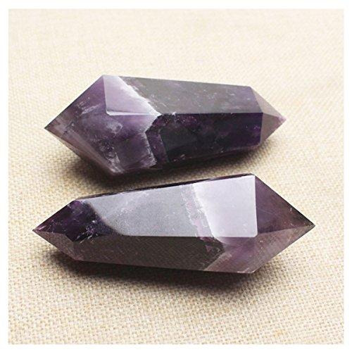 VANTEAM Natural Purple Crystal - Healing Gemstone Ornaments Home Décor – (Natural Doublet)