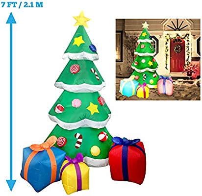 Amazon.com: Joiedomi - Árbol de Navidad con luz LED de 7 ...