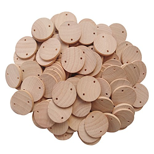 AS 1.5 inch Wood coins Tags (50-pcs / 100-pcs / 200-pcs) Wooden Tags For Birthday Boards, Chore Boards or other Special Dates - - 200 Coin
