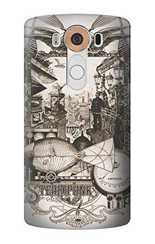 S1681 Steampunk Drawing Case Cover For LG - Steampunk Cover
