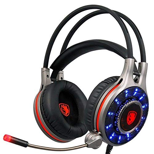 Sades R11 USB 7.1 Channel Surround Sound Wired Gaming Headset Headphone with Microphone Vibration - Earphones Headsets - 1 x Sades R11 Headset