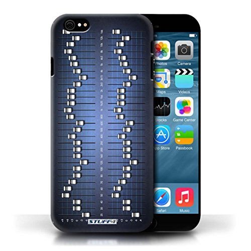 KOBALT® Hülle Case für Apple iPhone 6/6S | Grafik-Equalizer/EQ Entwurf | Retro Techik Kollektion
