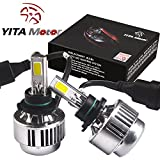 YITAMOTOR 2pcs 9006 HB4 LED Headlight Conversion Kit 3 Side Cob Low Beam Fog Headlamp Light 6000K White 80W 8000LM