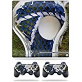 Mightyskins Protective Vinyl Skin Decal Cover for Sony Playstation 3 PS3 Slim skins + 2 Controller skins Sticker Lacrossse