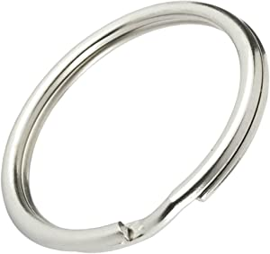 "Bulk 500 Pack - 1"" Key Rings - Heat Treated & Lead Free - Heavy Duty & Durable Premium Split Ring Keychains by Specialist ID"
