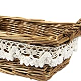 Juvale Wicker Basket - Small Woven Fruit