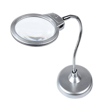 Lupas Para Lectura Escritorio Espejo Principal 10X Espejo Auxiliar 20X Lupa Con Luces LED Personas Mayores