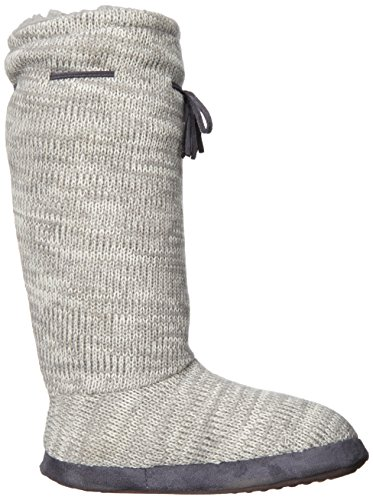 Muk Tall Fleece Boot Grey Luks lined Slipper Women's Medium vqrvz1