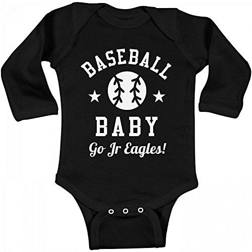 Delia Bartholomew Baseball Baby Fan Go Jr Eagles!: Infant Long Sleeve (Junior Eagle)