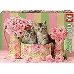 Educa Borras 500 Gattini Con Rose Puzzle Multicolore 17960