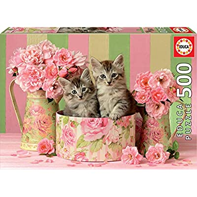 Educa Borras 500 Gattini Con Rose Puzzle Multicolore 17960
