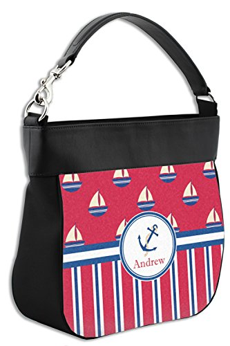 Back amp; Genuine Stripes Boats Sail Hobo amp; w Purse Front Personalized Trim Leather 4fqAawq