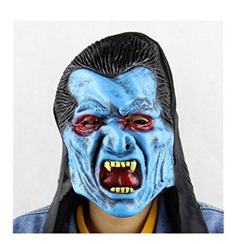 primerry Haunted House Escape Halloween Vampire Show Props Latex Mask