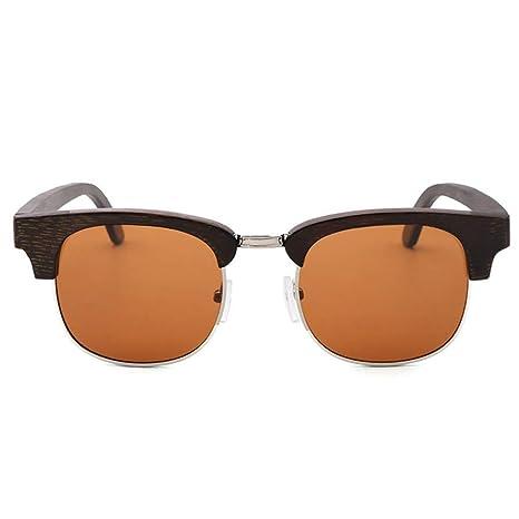HXPH Gafas de Madera Unisex - Gafas de Sol de bambú ...
