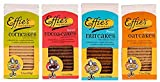 Effie's Homemade All-Natural Lightly Sweetened Gourmet Biscuits 4-Flavor Variety Pack: Oatcakes, Nutcakes, Cocoacakes, Corncakes. For Real Food Lovers Craving Homemade Taste