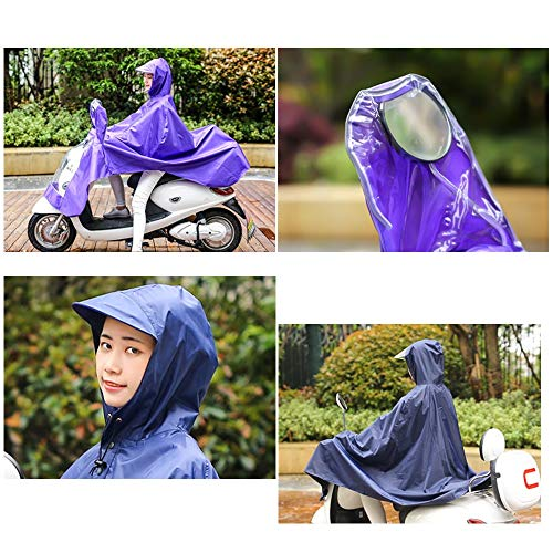 Red Électrique Poncho Geyao En Size Adultes color Unique Moto Imperméable Plein Blue Femmes N210 Hat Hommes Et Big Air Lake pq4gRqH