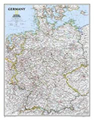 National Geographic's map of Germany is as attractive as it is functional. Rendered in the Classic style with colorful, clearly defined international borders, shaded relief, and easy-to-read fonts, this map includes thousands of place ...