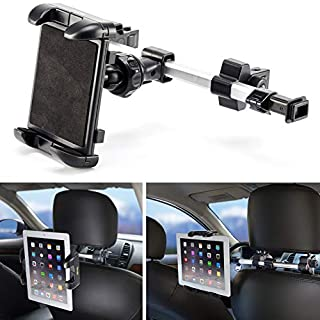 iKross Universal Car Tablet Mount Holder Backseat Headrest Extendable Mount Compatible with Apple iPad, iPhone, Tablet, Smartphone, Nintendo Switch with Dual Adjustable Positions