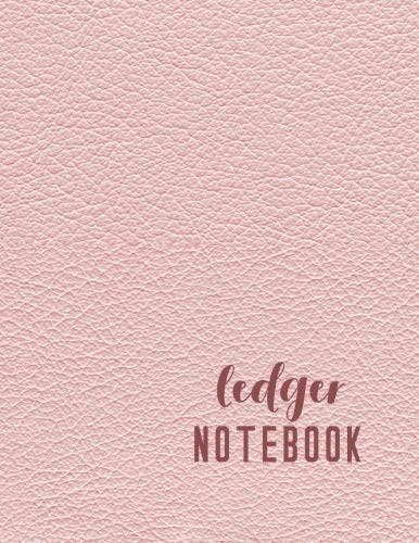 Ledger Notebook: 6 Column Accounting Ledger Book For Bookkeeping - The Record Keeping Journal - Pink Leather Style ()