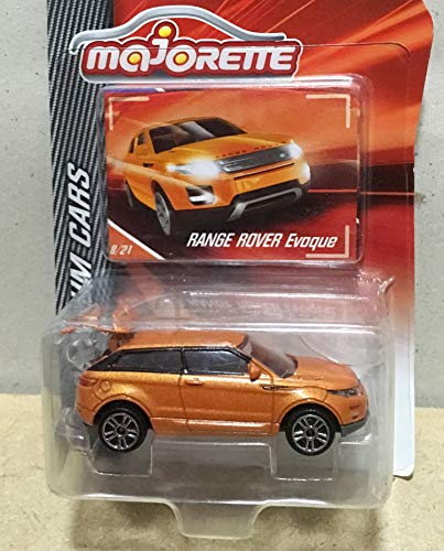 Jinstore Diecast Car 1/64 Range Rover Evoque Metallic Orange Scale 1/59 Ref 266A Metal Car in Pack