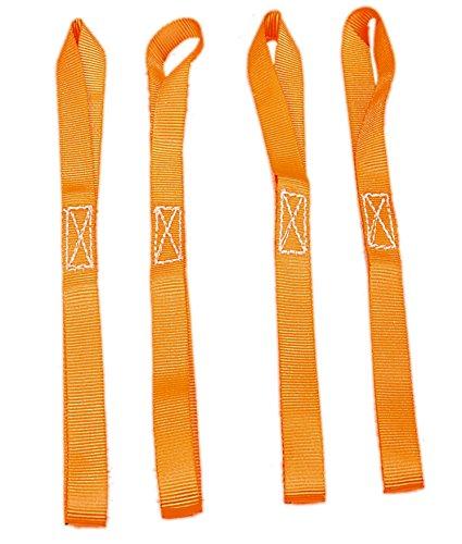TGL 18 inch Tie Down Straps, 2,300 LB per strap, 4-pack