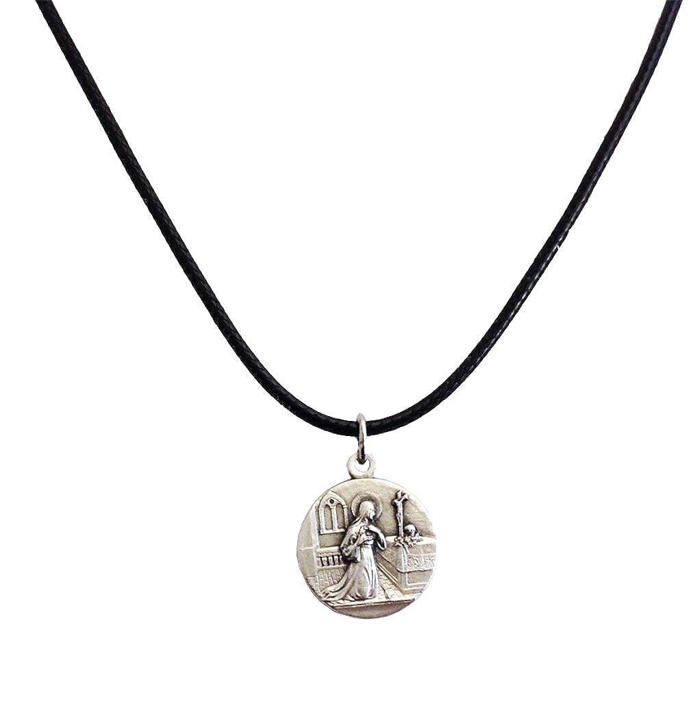 Medaille der Heiligen Rita von Cascia mit Kordelkette -Die Medaillen der Schutzheiligen Igj Mro18bisL