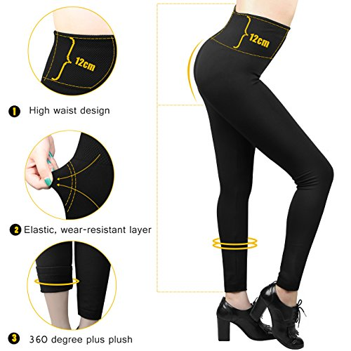 36599f88d1da6 Women High Waist Fleece Lined Leggings Ladies Seamless Ankle Leggings 7 Pack