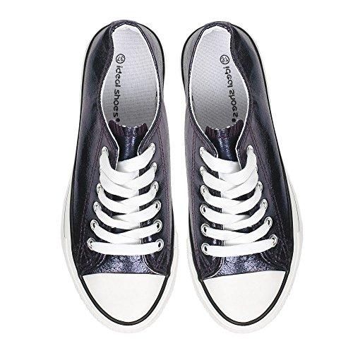 Shoes Marine Basses Baskets Effet Kali Ideal Brillant 4qpRp0