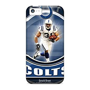 Iphone 5c Zje8448PGWv Customized Vivid Indianapolis Colts Series Shock-Absorbing Hard Cell-phone Case -DannyLCHEUNG