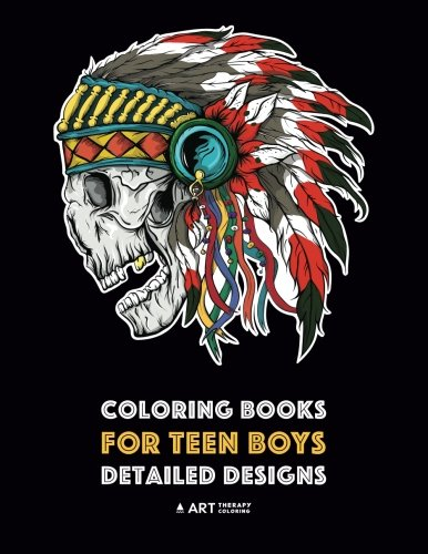 (Coloring Books for Teen Boys: Detailed Designs: Complex Drawings for Teenagers & Older Boys; Zendoodle Lions, Tigers, Dragons, Snakes, Skulls & Geometric)