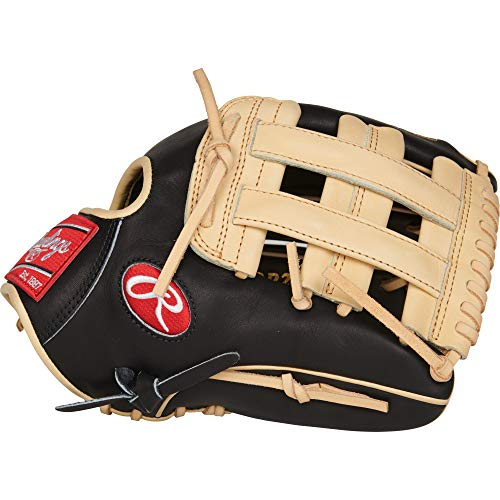(Rawlings PROR207-6BC Heart of The Hide - R2G, Black/Camel, 12.25