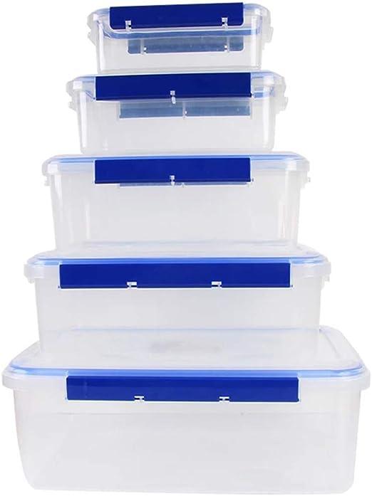 Cvthfyk Caja de Almacenamiento del refrigerador de la Cocina del refrigerador de la Cocina del plástico Grueso Sellado recipientes de Almacenamiento plásticos Transparentes rectangulares: Amazon.es: Hogar