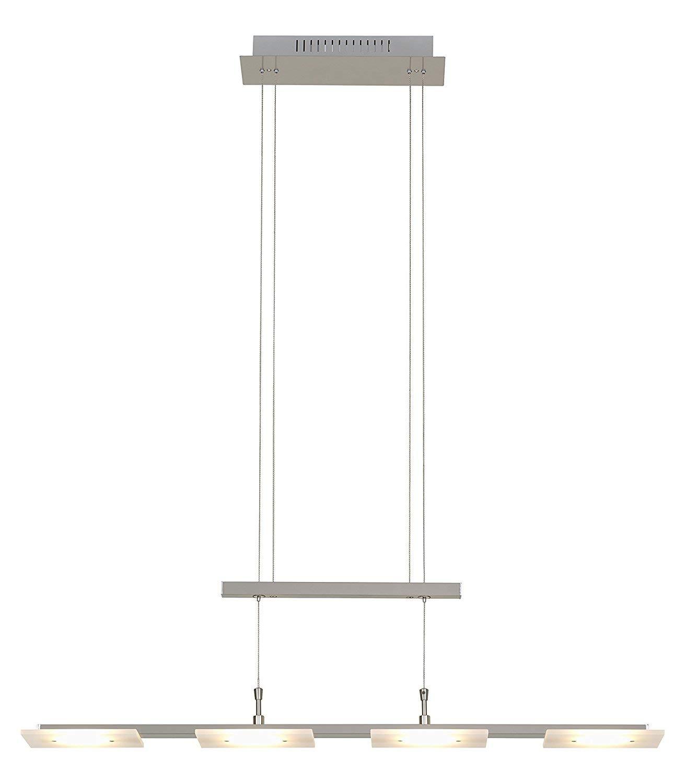 Trango Design stufenlos dimmbare LED Pendelleuchte in Nickel matt TG2013-R42 I Esstischleuchte h/öhenverstellbar I LED H/ängelampe I Deckenleuchte I LED Wohnzimmerlampe I Deckenstrahler I Innenleuchte