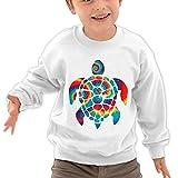 Puppylol Tie Dye Turtle Kids Classic Crew-neck Pullover Sweatshirt White 4 Toddler