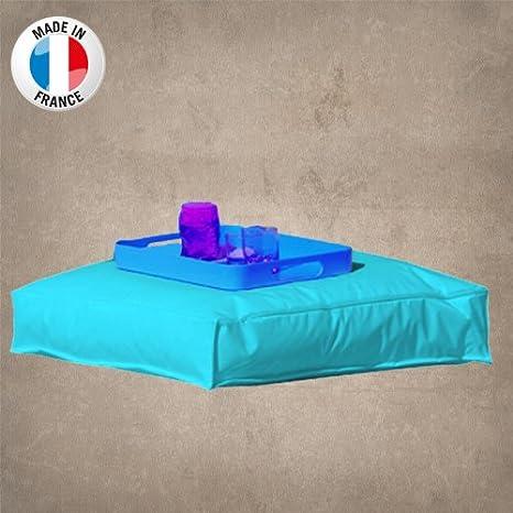 Made in France: Cojín de suelo, color azul turquesa y ...