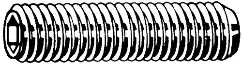 Vis sans tê te hexagonale creuse (STHC) 4 x 10 mm - DIN 916 - Acier brut - Bout cuvette outillage-francilien