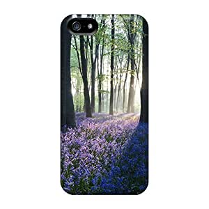 Durable Defender Cases Case For Iphone 5/5S Cover s(dawn In Forest)