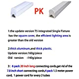 (Pack of 6) LED T5 Integrated Single Fixture