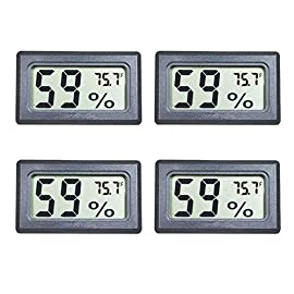 Veanic 4-Pack Mini Digital Electronic Temperature Humidity Meters Gauge Indoor Thermometer Hygrometer LCD Display Fahrenheit (℉) for Humidors, Greenhouse, Garden, Cellar, Fridge, Closet 2 Specification: