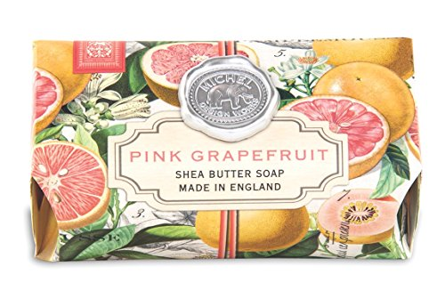 (Michel Design Works Oversized Triple Milled Bath Soap Bar, Large, Pink Grapefruit, 8.7 Ounce)
