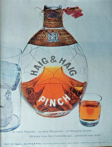 Haig & Haig Pinch Whiskey, 50's Print ad. Full Page for sale  Delivered anywhere in USA