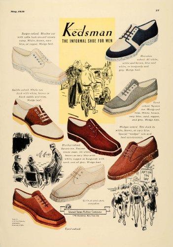 1939 Ad Kedsman Casual Shoes Models Pricing Mudguard - Original Print Ad (Model Casual)