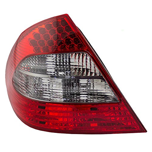 (LED Tail Light for 07-09 Mercedes-Benz E-Class Sedan Appearance Package Driver Smoked Back Up Lens Replacement 2118202564 211 820 25 64 AutoAndArt)