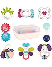 REMOKING Rattle Toys for Baby Toys,8Pcs Sensory Toys with Storage Box for Babies,Toddler Newborn Toys for Early Education,Animal Shaker Grab Rattle,Toy  Boys and Girls from 0-3-6-12 Months Old