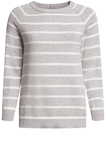 oodji Collection Mujer Jersey Ancho a Rayas Gris (2312S)
